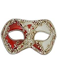 Maschera Veneziana Colombina Cards (cuori)