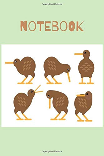 Notebook: Kiwi Zealand Bird Fruit Book Notepad Notebook Composition and Journal Gratitude Dot Diary