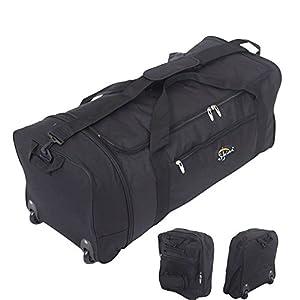32 Inch Large Folding Wheeled Travel Sports Cargo Holdall Duffle Bag