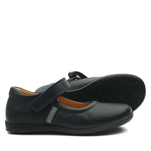NEW LYNN Step2wo School Shoe Cross Strap for Girls >      > Chaussures de l'école avec bracelet croix pour les filles Navy Blue (bleu)