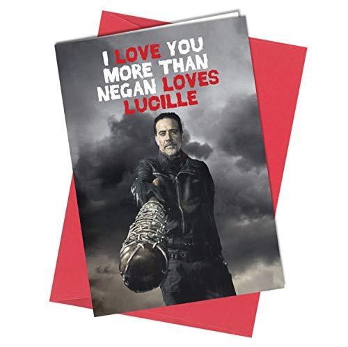 tstag Walking Dead Grußkarte Junge Mädchen Humor Lustig Rude (A4 gefaltet auf A5) Top Qualität Grußkarte Close To The Bone ()