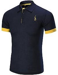 Longra ★ Camiseta Hombre, Los Hombres de Negocios de Moda de Manga Corta Delgada Delgada Fawn T-Shirt Sportwear Top Blusa