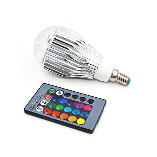 Master-Light 10W E14 RGB Lampe Glühbirne mit Fernbedienung, 16 Farben Farbwechsel Birne, 130x60mm (Rosa Glühbirnen)
