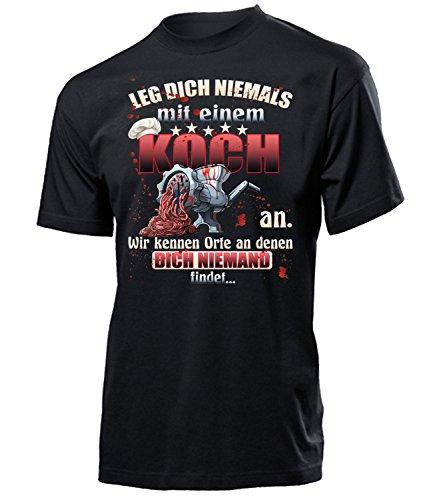 einem Koch an 5323 Herren Männer Fun Shirt Aufdruck Lustig Spruch Tshirt Geburtstag Geschenk Schwarz XXL ()