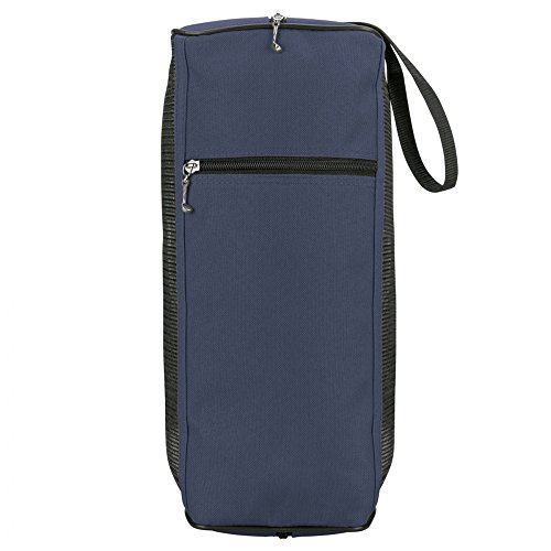 eBuyGB grande Golf Shoe Boot Bag con pannello Mesh e dettaglio cerniera Golf Club (blu)