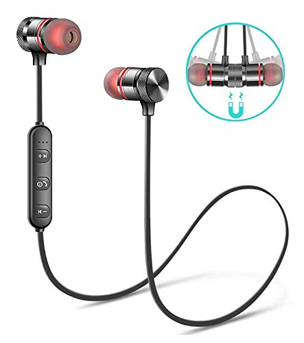 Creatif Ventures Bluetooth Headphone with Noise Isolation and Hands-Free Mic and Buttons with Magnetic Earbuds Secure Fit for Gym, Running and Outdoor (Assorted Colour)