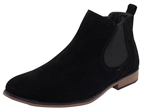 Preisvergleich Produktbild LJ&R ,  Herren Chelsea Boots ,  schwarz - schwarz - Größe: 42.5