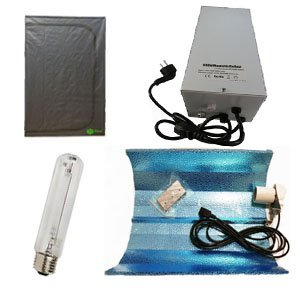 Kit Armario Disma Box de cultivo 60cm x 60cm x160cm + Balastro 600W + Lampara Maxilumens 600W + Reflector estuco