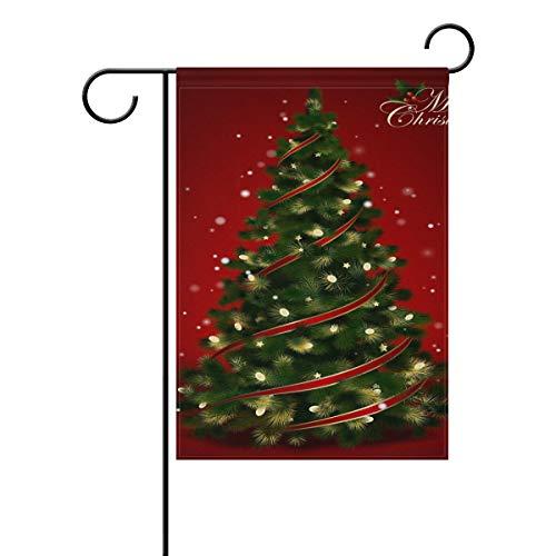 JIRT Garten-Flagge, 30,5 x 45,7 cm, Kunst-Weihnachtsbaum, doppelseitig, Polyester, Banner für drinnen und draußen, für Rasen, Hof, Dekoration, Image 256, 28x40(in)