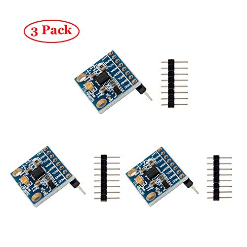 Jolicobo 3 PCS GY-521 MPU-6050 3 Axis Accelerometer Sensor Module 16 Bit AD Converter Uscita Dati IIC I2C per Arduino