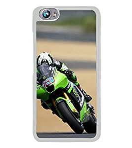 ifasho Designer Phone Back Case Cover Micromax Canvas Fire 4 A107 ( Wolf Man Full Moon )