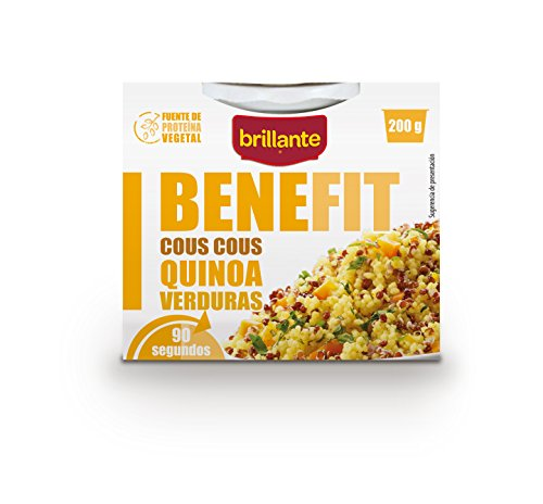 Brillante Benefit Cous Cous Quinoa Verduras 225G - [Pack De 16] - Total 3600 Gr
