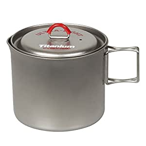 Ebanyu (EVERNEW) titanium mug pot 900 RED ECA267R