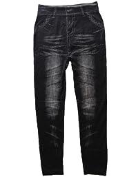 Leggings in Jeanslook, super elastisch für ausgezeichnete Paßform, Farben Blau, Schwarz, Einheitsgröße (34-38)