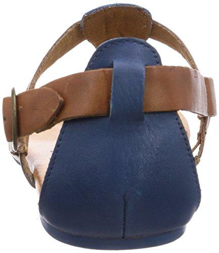Caprice 28105 Damen Sandalen Blau (BLUE/COGNAC/835)