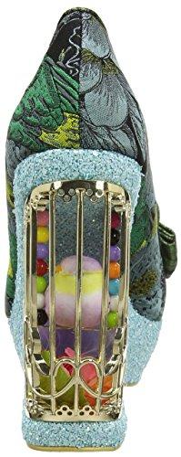 Irregular Choice Damen Ornate Agador Pumps Multicolour (Turquoise)