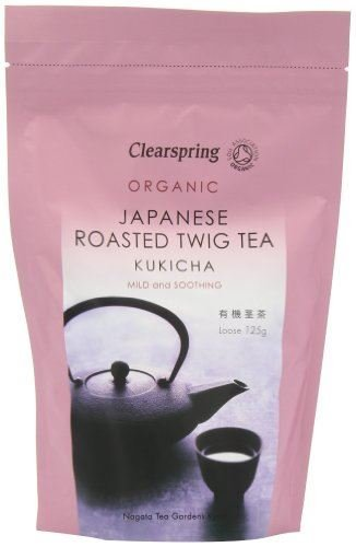 Clearspring - Japanese Roasted Kukicha Twig Loose Tea - 125g - Mild and Soothing - Organic by Clearspring
