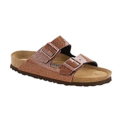 BIRKENSTOCK Unisex Arizona Soft Footbed Suede Sandals, Galaxy Bronze Birko Flor - 36 N EU/5-5.5 2A(N) US