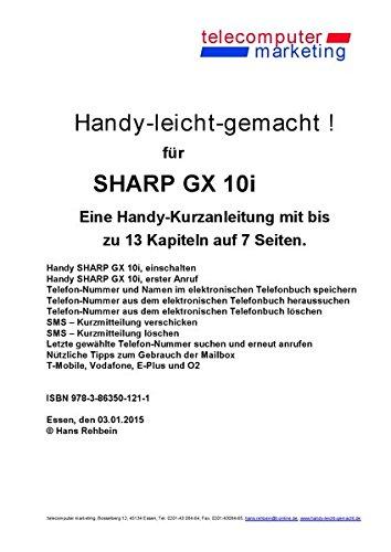 Sharp GX10i-leicht-gemacht: Handy-leicht-gemacht für Sharp GX10i