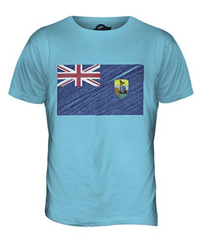 CandyMix St. Helena Kritzelte Flagge Herren T Shirt Himmelblau