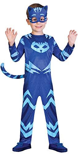 Fancy Me Jungen Mädchen Klassische PJ Masken Blau Catboy TV-Buch Film Cartoon Charakter Karneval Party Kostüm Outfit 2-8 Jahre