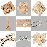 Bartl Matura 9 Knobelspiele aus Holz und Metall Sortiert im Spar-Knobel-Pack