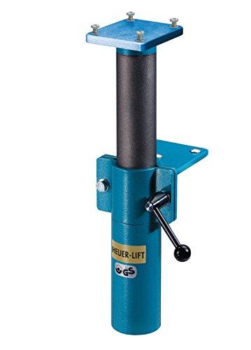 HEUER 104220 Höhenverstellgerät / Lift für Schraubstock | müheloses und sicheres Einstellen des Schraubstocks, perfekte Ergänzung für ergonomisches Arbeiten | stufenlos um 200 mm in der Höhe verstellbar (Schraubstock Verstellbarer)