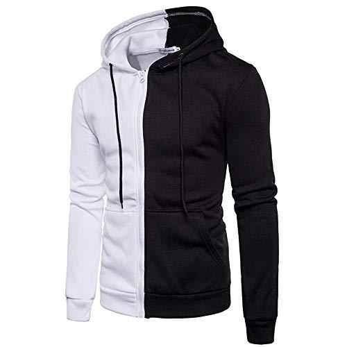 Qinsling felpa con cappuccio uomo inverno maglione elegante maniche lunghe distintivo hoodie corrispondenza dei colori del mosaico sweatshirt camicetta dolcevita classico tops