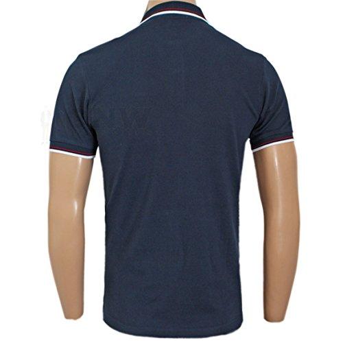 Ben Sherman Herren Poloshirt, Einfarbig schwarz schwarz / weiß Small Navy