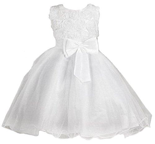 Eyekepper Kleine Maedchen Huebsch Tutu-Kleid Prinzessin Kleid Weiß