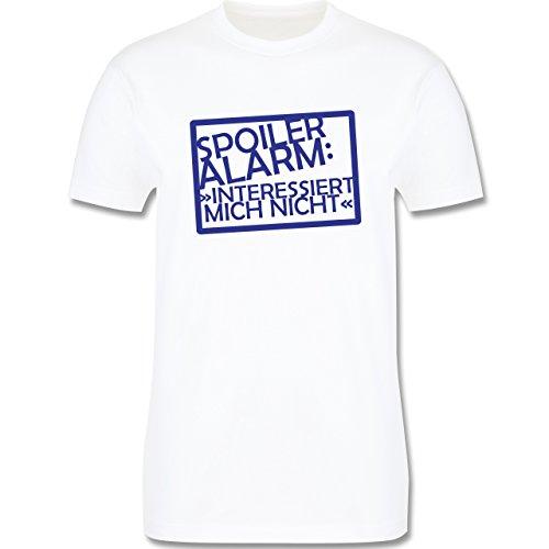 Sprüche - Spoiler-Alarm: Interessiert mich nicht - Herren Premium T-Shirt Weiß