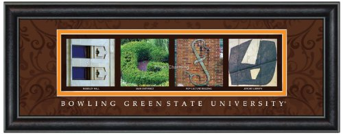 Prints Charming Buchstabe Kunstdruck gerahmt, Bowling Green State-bgsu, Bold Farbe Grenze