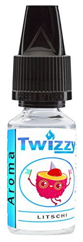 10ml Twizzy Litschi Aroma | Aroma für Shakes, Backen, Cocktails, Eis | Aroma für Dampf Liquid und E-Shishas | Flav Drops | Ohne Nikotin 0,0mg