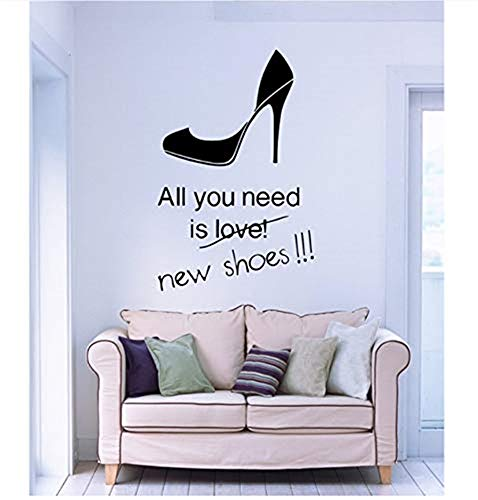 f787a8d01f3 pegatinas de pared baratas pegatinas de pared baratas Shoes High Heels Wall  Stickers Vinyl Decal All You Need is Shoes Stilettoes Shopping Fashion  Decor ...