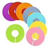 Biging-16-Pieces-8-Colors-Closet-Size-Dividers-Round-Clothing-Rack-Dividers-with-Marker-Pen