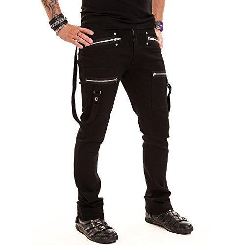 Barriera Punk Pant Vixxsin Pantaloni uomo - con molte borse e cerniere Nero  nero