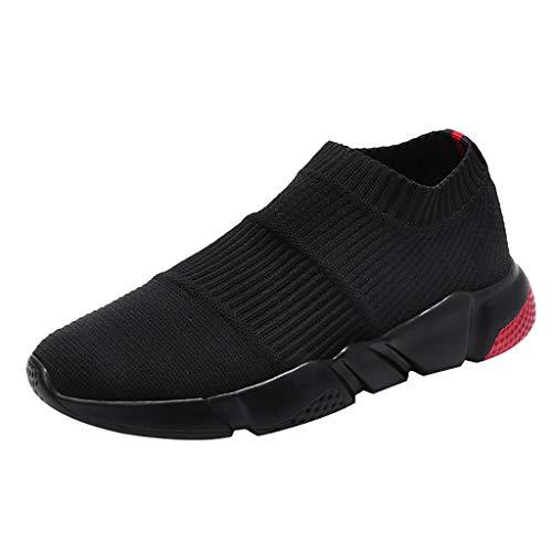 AIni Herren Schuhe Mode Beiläufiges 2019 Neuer Heißer Sommer Socken Flut Schuhe Casual Schlüpfen Sneaker Mesh Breathable Sneakers Freizeitschuhe Partyschuhe (42,Rot)
