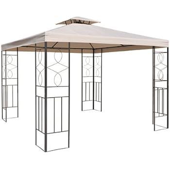 ersatzdach f r pavillon 3x3 meter ecru beige wasserdicht. Black Bedroom Furniture Sets. Home Design Ideas