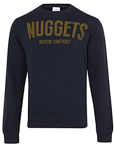 adidas Performance NBA Denver Nuggets Mens Basketball Crew Sweatshirt Size S