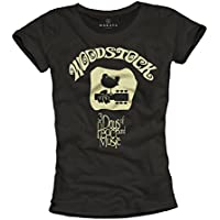 Maglietta Donna Hippie - WOODSTOCK - T-shirt musica rock classica