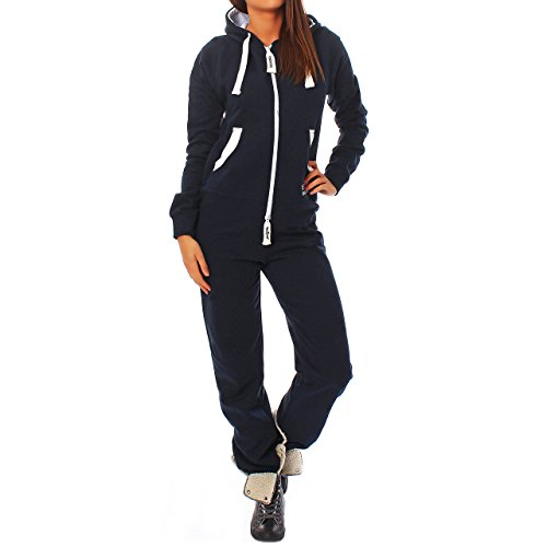 JQ2 Finchgirl Damen Jumpsuit Jogging Anzug Trainingsanzug Overall Navy XL