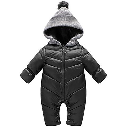 Tute da neve Bambino Pagliaccetti Vine Hooded Body Inverno Overalls Bambino Tutine con Cerniera