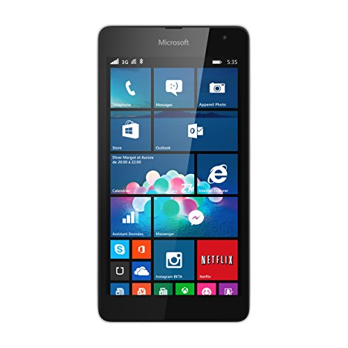 "Microsoft Lumia 535 - Smartphone libre (pantalla 5"", cámara 5 Mp, 8 GB, 1.2 GHz, 1 GB RAM, Windows), blanco (importado)"