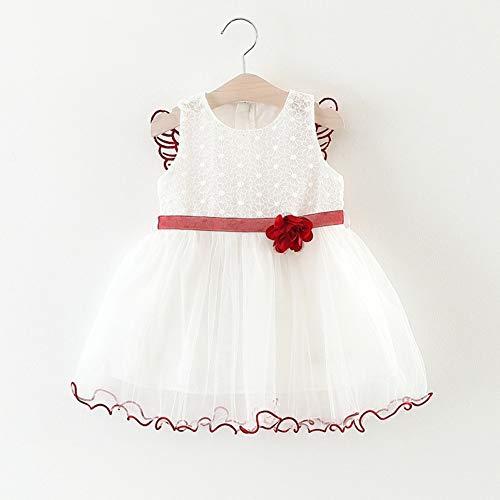 LUOMU Baby-Kleinkind-Fee-Art-niedlicher Flügel-ärmelloses Blumen-Tutu-Sommerkleid