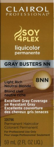Clairol Colorant permanent Liquicolor Gray Busters - Excellente couverture des cheveux gris tenaces - Couleur 8NN - Blond clair neutre riche - 59 ml