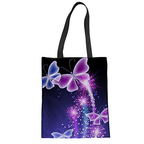 Lehrer Tasche für Arbeit Schmetterling Umhängetasche Designer Leinentasche -
