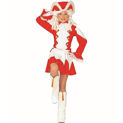 NET TOYS Tanzmariechen Kostüm für Kinder   Rot-Weiß -