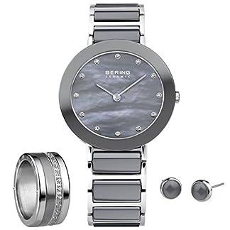Reloj de Mujer bering, combinación anillo & RG 55 11429-789 studs Set + 520-10-74 + 554-80-71 + 556-17-71 + 701-18-05