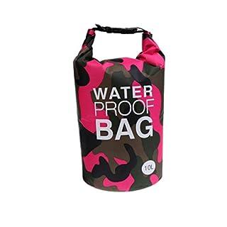 AiO-S - OK Drybag 10L Tasche 10 Liter wasserdicht Packsack Camouflage pink Water Proof Softcase