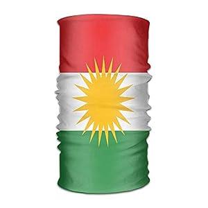 NDJHEH Stirnband Unisex Kurdistan Flag Multifunction Bandana Headband Athletic Headwear Sweatband,Magic Scarf,Neck Balaclava,Helmet Liner,Tube Mask,UV Resistence Outdoor Sport Yoga